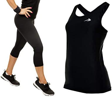 CompressionZ Women s Compression Capris Tank Top Bundle Black Large product image