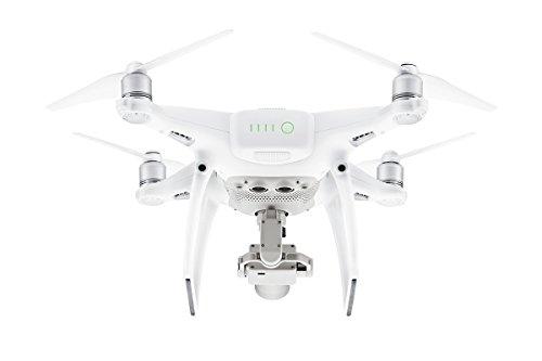 DJI Phantom 4 Pro (Version UE) -Drone Quadricoptère avec Caméra - Offre 30-Min de Vol - Caméra 4K - Photos & Vidéos HD - Design Élégant - 5 Capteurs Optiques - Radiocommande avec Support Mobile