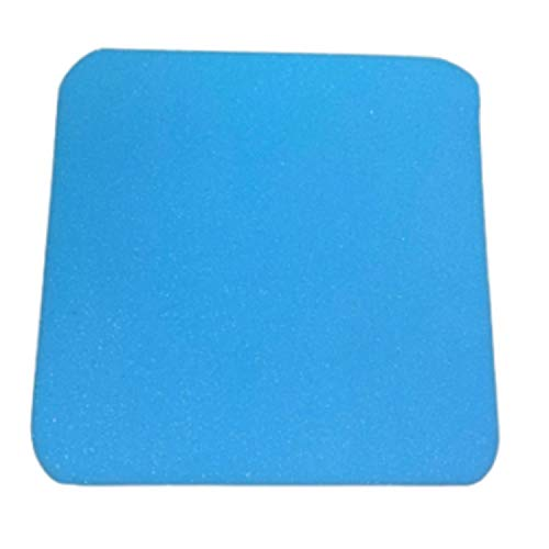 Upholstery DIY Blue and White Foam Cushion Oval/Rounded Corners D-Shape Tapered Chair Seat Pads Dining Chair Seat Pads Indoor/Outdoor Sofa Seat Replacement (16' x 16' x 4', Blue Round Corner)