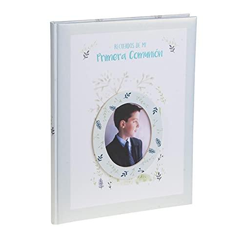 Busquets Libro comunion con paspartu NIÑO Azul