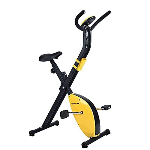 SAFGH Bicicleta Vertical Plegable de Resistencia magnética para Ciclismo, Velocidad Variable de Resistencia Infinita, Ajuste Gratuito de Resistencia, Pantalla de Alta definición, monitorización de