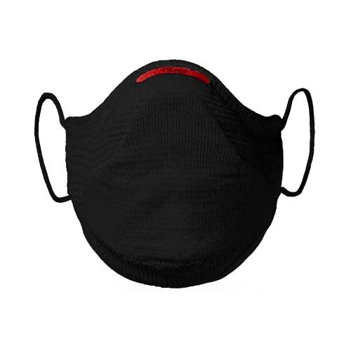 Máscara Fiber Knit AIR + Filtro de Proteção + Suporte (Preta, G)