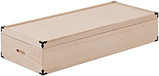 桐衣装箱 1段 高さ17cm 隅金具付 GB-0002