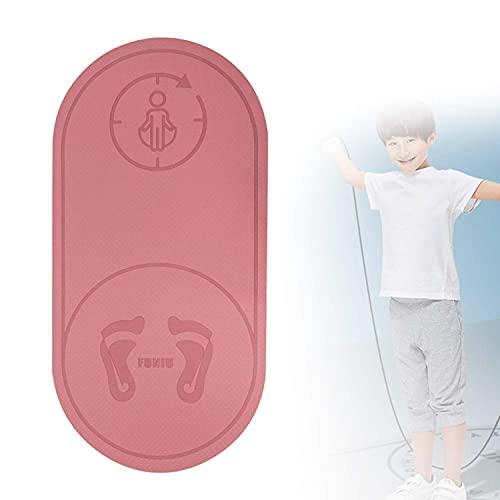 Estera de fitness de alta densidad extra gruesa, alfombrillas de ejercicios anti-lágrimas anti-lágrimas, colchoneta silenciosa multifunción saltando de la cuerda con bolsa de malla para el ejercicio d