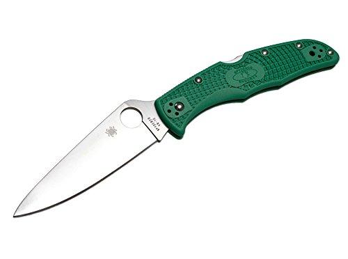 Spyderco Unisex– Erwachsene Taschenmesser Endura Flat Ground Grün, 21,5 cm