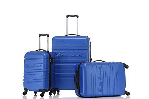 Lot de 3 valises Rigide 4 Roues 55/65/75cm Little Marcel LM8801/3 (New Blue, Lot de 3 valises Rigide 4 Roues 55/65/75cm)