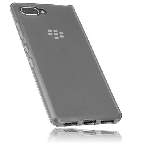 mumbi Hülle kompatibel mit BlackBerry KEY2 LE Handy Hülle Handyhülle, transparent schwarz