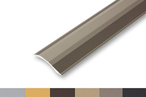 (11,20€/m) Ausgleichsprofil 45 x 900 mm selbstklebend   Übergangsprofil   unterschiedliche Höhen   Anpassungsprofil flexibel   - Höhenausgleich von 2-20 mm (900 mm, edelstahl-look)