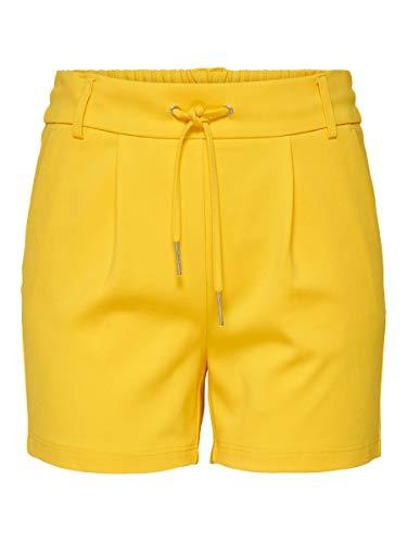 Pantalones cortos amarillos para mujer