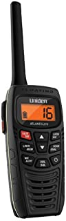Uniden Atlantis 270 Handheld Floating 2-Way 1/2,5/6 Watt VHF Marine Radio, JIS7/IPX7 Submersible Waterproof level and Designed to Float (Discontinued by Manufacturer, Replaced by Uniden Atlantis 275)