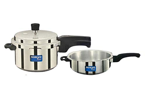 Master Flame Surya Action Popular Aluminium Pressure Cooker Outer Lid (Silver, 3 L Combi, Saver) - ISI Approved