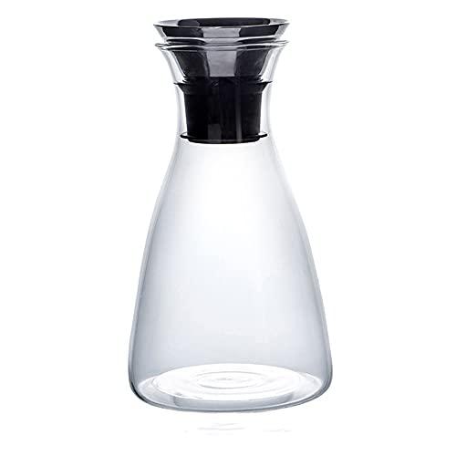 GFDFD Capacidad de Gran Capacidad Lanzador de Vidrio sin Goteo con Tapa Alta Temperatura Resistente al hogar Té de Hielo Jar Jar Jarra de Agua fría (Size : B1500ML)