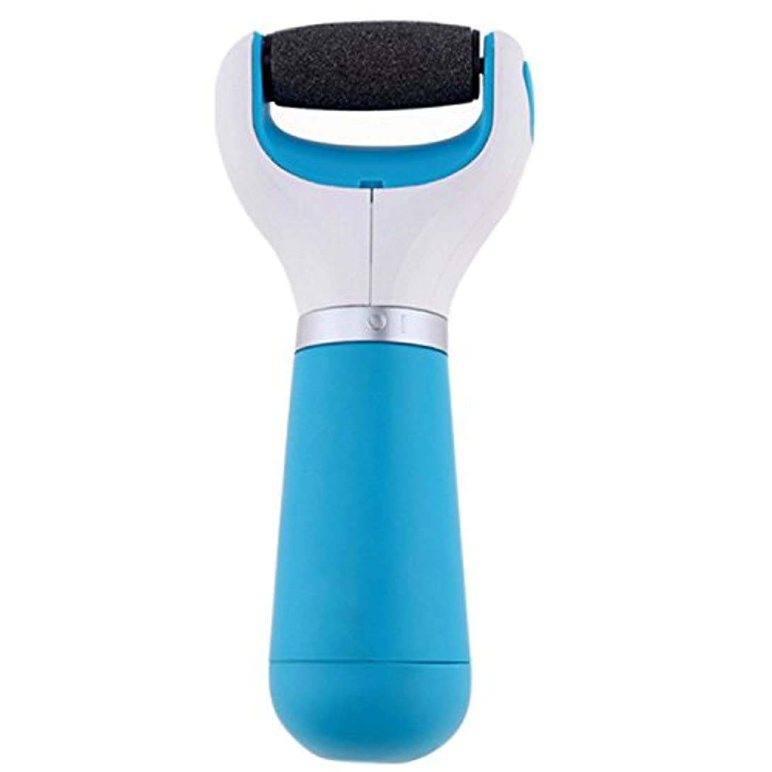 理容師中絶等々KINGZUO 電動角質リムーバー 充電式 無線 ベルベットスムーズ かかと角質除去 持ち運び便利 (USB+乾電池式)
