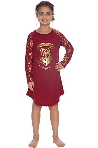 Harry Potter Hermine Hogwarts Nachthemd mit goldfarbenem Logo und Wappen - - 6-6X