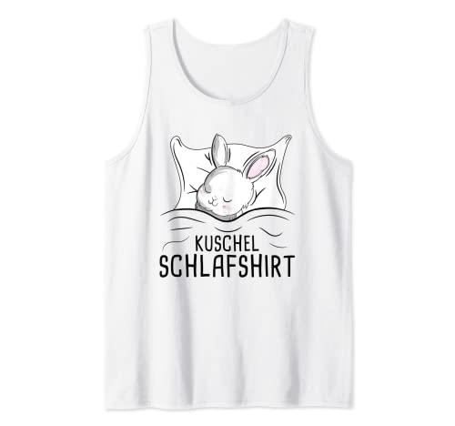 Schlafshirt Pyjama Nachthemd Schlafanzug Hasen Kaninchen Tank Top