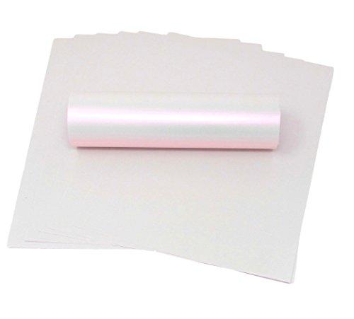 Syntego Papier im A4-Format, elfenbeinfarben, mit rosafarbenem Schimmer, Perlmutt-Optik, 100 g/m², passend für Tintenstrahl- und Laserdrucker - 20