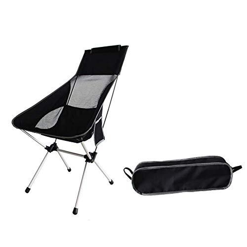 Drcy con almohada tubo de aluminio silla de espacio ultraliviana de la luna de ocio, playa, silla pl