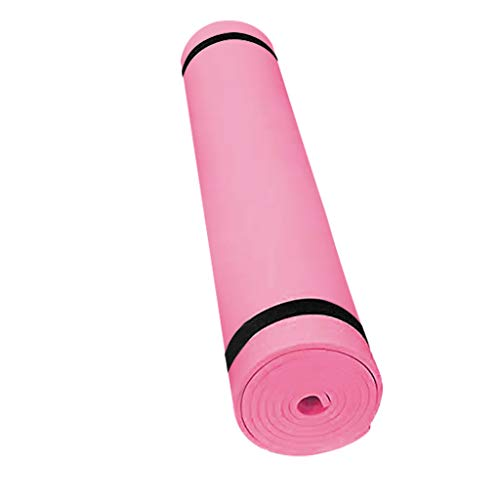 Andouy Pilatesmatte, Gymnastikmatte, Yogamatten, Hautfreundliche Fitnessmatte, Phthalatfrei, 173X61X0.4CM, Yoga Matte in 7 unterschiedlichen Farben(173X61X0.4CM.Rosa)