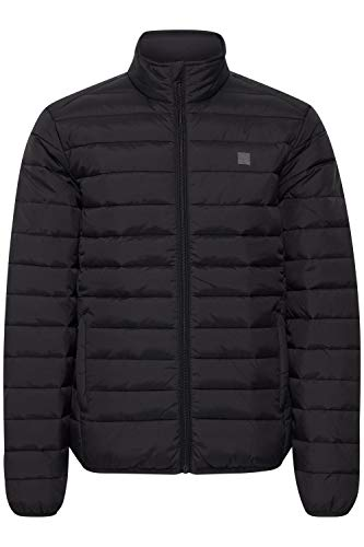!Solid Sören Herren Steppjacke Übergangsjacke Jacke gefüttert mit Stehkragen, Größe:L, Farbe:Black (194007)