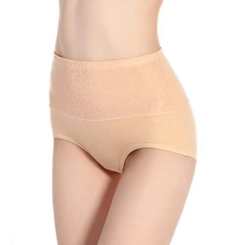 HUABEI Postpartum High Waist Briefs Women's Underwear Cotton Large Size Cotton Underwear Ladies Sexy briefsA-1apricotA-1XXXXL MYJ