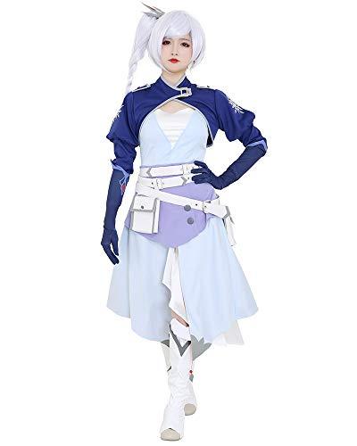 miccostumes Women's Volume 7 Weiss Schnee Cosplay Costume Outfit Dress with Belt Set (Medium)