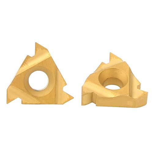 Plaquitas de torneado, Chacerls Herramienta de torno CNC 16IR AG60 Insertos de carburo Cuchillas Torno Herramienta de torneado de corte para procesamiento de hierro fundido de acero