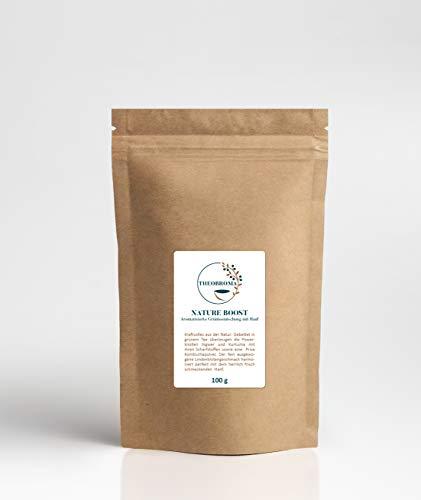 Nature Boost Grünteemischung mit Kurkuma, Kombuchapulver, Ingwer und Hanf, erfrischend kräftiger Power Tee Genuss, loser Tee, wiederverschließbare Packung, 100 gramm