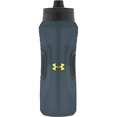 Under Armour Undeniable Squeeze Bottle with Quick Shot Lid, Lead, 32 Ounce