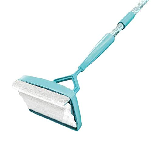Seraphicar - Barra de limpieza para mango retráctil, cepillo de limpieza con rotación de 360 grados