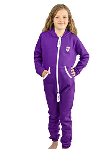 Gennadi Hoppe Kinder Jumpsuit Overall Jogger Trainingsanzug Mädchen Anzug Jungen Onesie,lila,9-10 Jahre