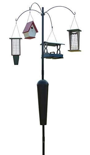 Squirrel Stopper Sequoia Squirrel Proof Pole System with 4 Hanging Stations
