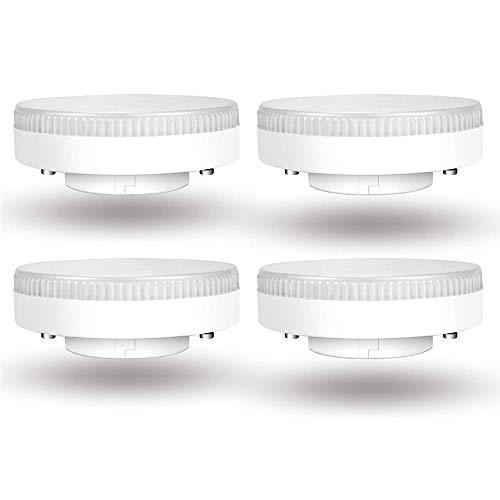 LED-Strahler GX53 9W Warmweiß 3000K, 900LM, LED Reflektorlampe Ersetzt für 15-18W Energiesparlampe, AC 230V, Nicht Dimmbar, 180 Grad, Einbaustrahler GX53 LED Disc für Schranklampe, 4er-Set