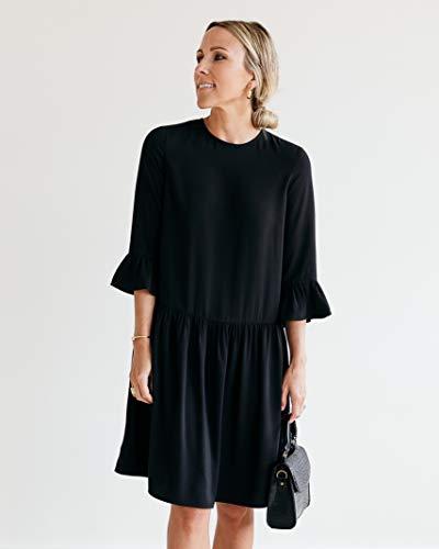 The Drop Robe pour Femme, Taille Basse, Noir, par @jaceyduprie