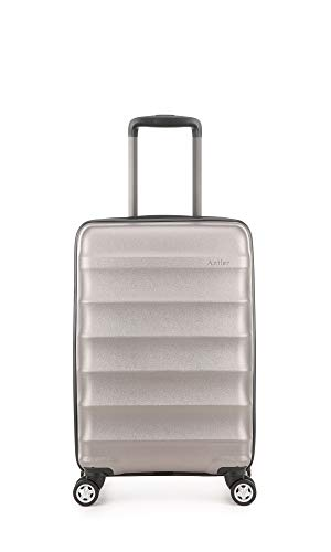 Antler Juno Metallics DLX, Durable & Lightweight Hard Shell Suitcase - Colour: Bronze, Size: Cabin