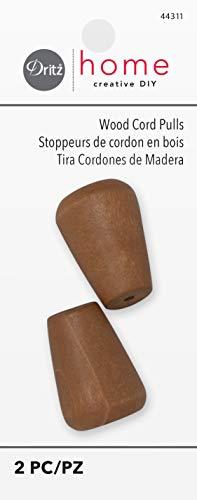 Dritz Cordon en bois Tire Pin Miel, acrylique, multicolore, Lot de 2