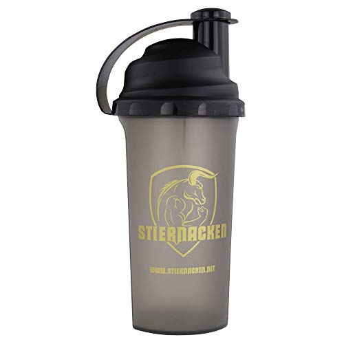 STIERNACKEN - Protein Eiweiß Mix Shaker Bottle Schwarz/Gold 700 ml
