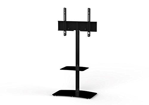 Sonorous PL2810 BLK Led-tv-standaard met extra plank, hout, zwart, 104 x 50 x 18 cm