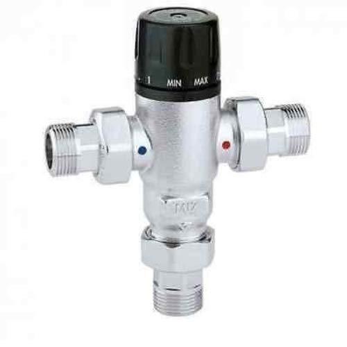 Caleffi 521503 Thermomischer 3/4 Zoll mit Rückschlagventilen am Eingang