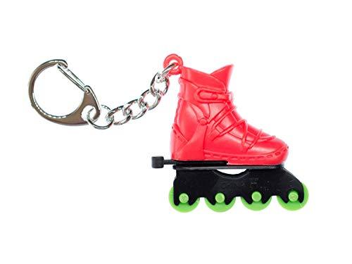 Miniblings Rollschuh Schlüsselanhänger rot Inline-Skates Rollschuhe Sport Skate
