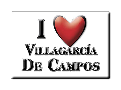 Enjoymagnets VILLAGARCÍA DE Campos (VA) Souvenir IMANES DE Nevera ESPAÑA Castilla Y LEÓN IMAN Fridge Magnet Corazon I Love