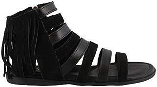 Womens Pisa Gladiator Sandal, Black Suede, Size 6