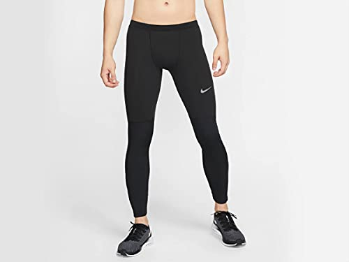 NIKE M Nk Run Tight Thermal Repel Long Sleeve Top, Hombre, Black/Reflect Black, S