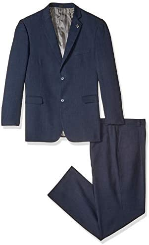 Stacy Adams Men s Big Tall Suny Vested 3 Piece Suit Navy 52 Long product image