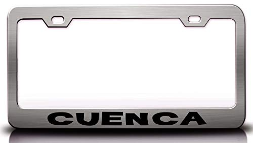 Custom Brother - Cuenca Ecuador Cities of The World Metal Car SUV Truck License Plate Frame Ch x31