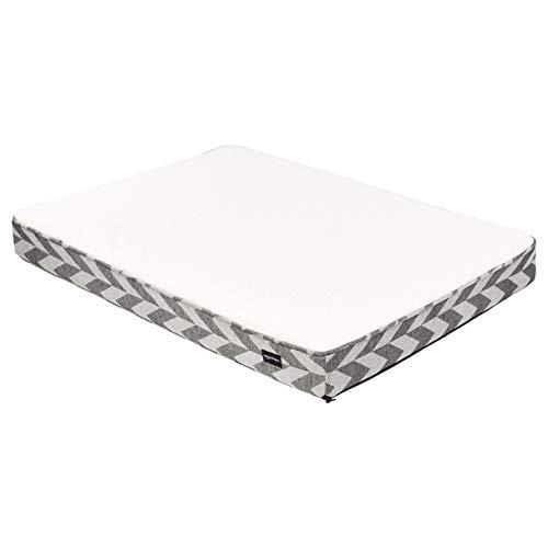 AmazonBasics Schaumstoff-Haustierbett, Größe L, Weiß und Schwarz