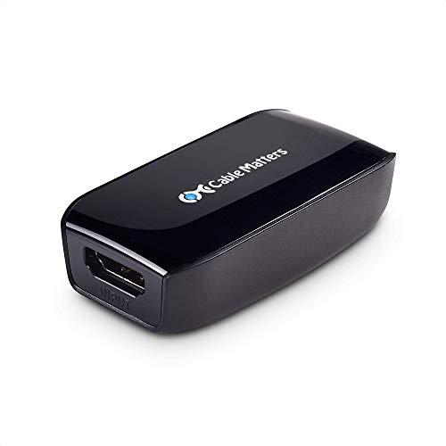 Cable Matters aktives HDMI Repeater für Oculus Rift VR Brille (HDMI Verstärker, HDMI Kupplung aktiv, HDMI Buchse auf Buchse) mit HDR, 4K 60Hz bis zu 18m, 1080p bis zu 41m für Blu-ray, HDTV, HTC Vive