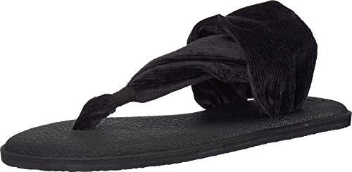 Sanuk Damen Yoga Sling 2 Corduroy Sandale, schwarz, 39 EU
