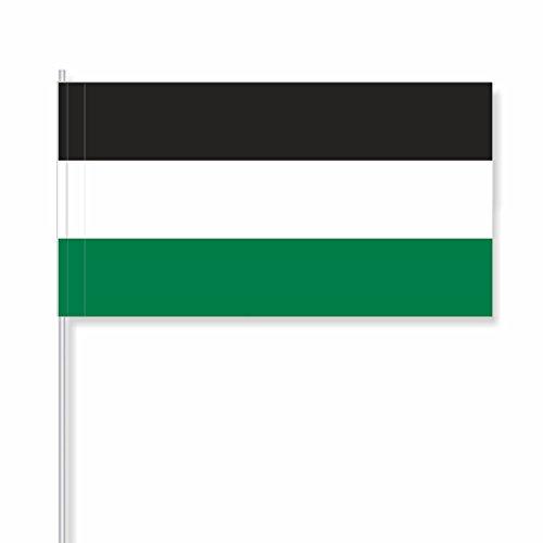 """antrada Papierfähnchen """"schwarz-weiß-grün"""" (250 Stück)"""