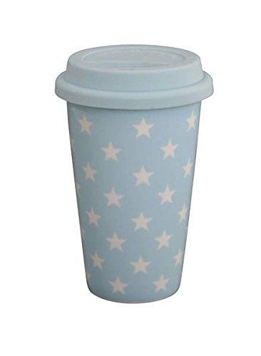 Travel mug bleu avec étoiles