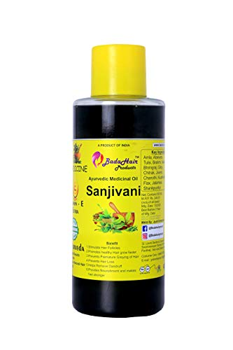 Badahair products Ayurvedic Sanjivani Hair Oil For Naturals Premium Cold Pressed Castor Oil - Pure & Virgin Grade - for Healthy Hair and Skin Hair Oil with 14 Essential Oils, Multi-Purpose Hair Growth Oil For Complete Hair Treatment with Bhringraj, Hibiscus, Black Sesame,Amla,Sweet Almond, Olive and more.- 500 ML